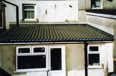 The Front Of The Building Was Built Up Approx 500ml Then New Roof Timbers  Were Installed, Covered With Board And ...